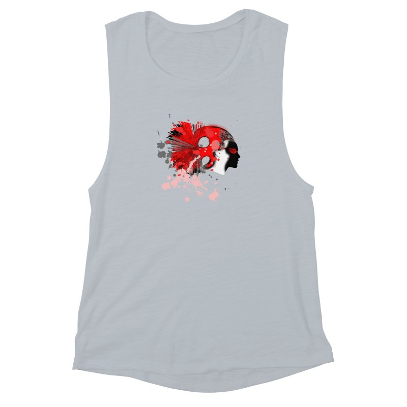 Crazy Hair Women's Muscle Tank by syria82's Artist Shop