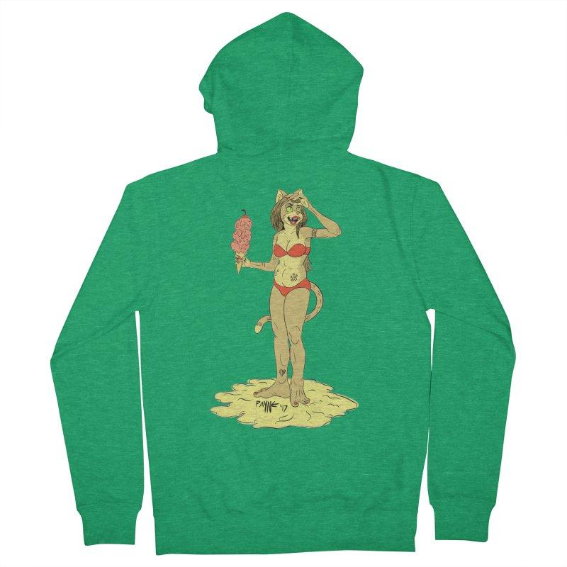 Beach Cat Women's Zip-Up Hoody by Syrup Pirates Shirt Shop