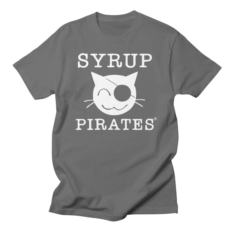 Official Syrup Pirates Logo Shirt - White Logo Men's T-Shirt by Syrup Pirates Shirt Shop