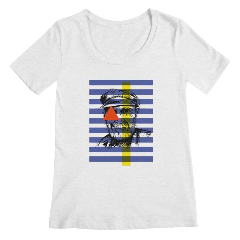 Sailor man (transparent png) Women's Scoopneck by szjdesign's Artist Shop