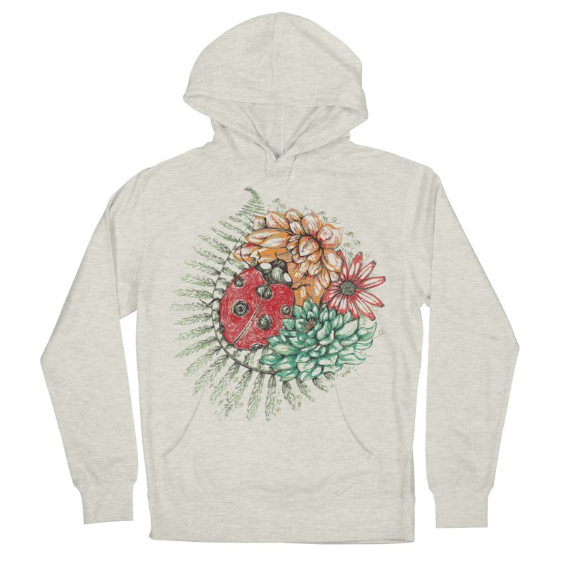 Ladybug on flowers Women's Pullover Hoody by szjdesign's Artist Shop