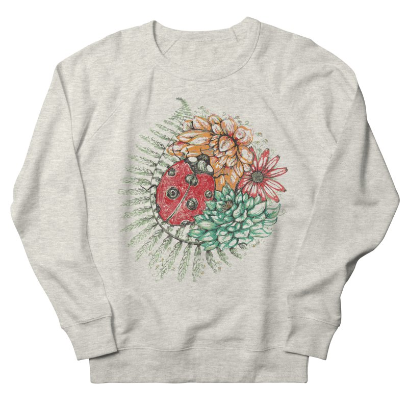Ladybug on flowers Women's Sweatshirt by szjdesign's Artist Shop