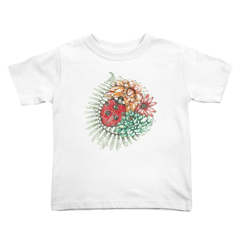 Ladybug on flowers Kids Toddler T-Shirt by szjdesign's Artist Shop