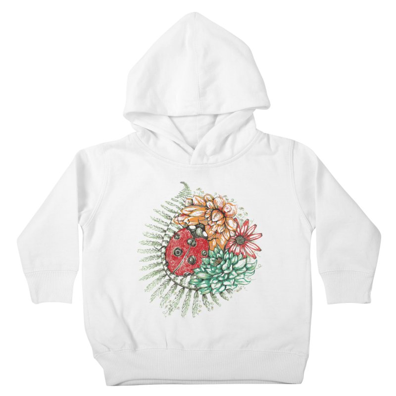 Ladybug on flowers Kids Toddler Pullover Hoody by szjdesign's Artist Shop