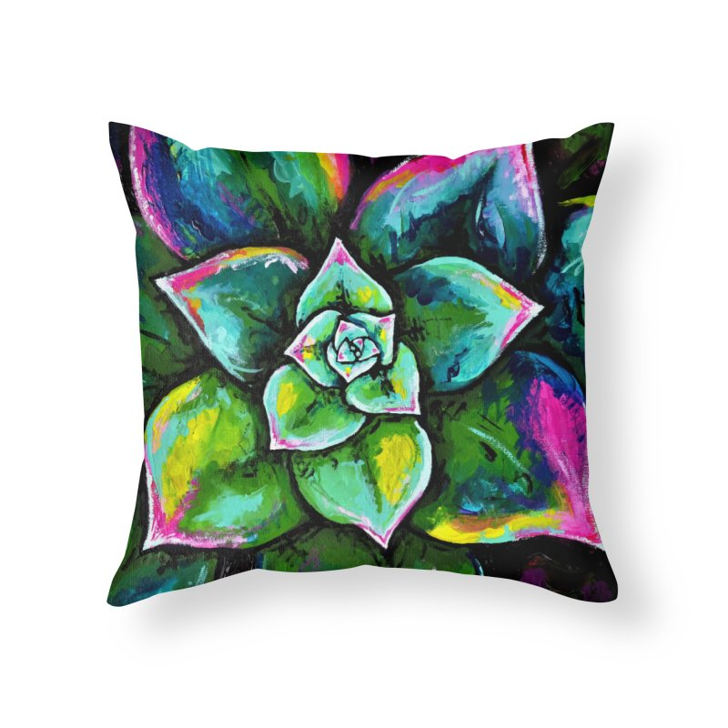 Houseleek #1 (wall art) Home Throw Pillow by szjdesign's Artist Shop