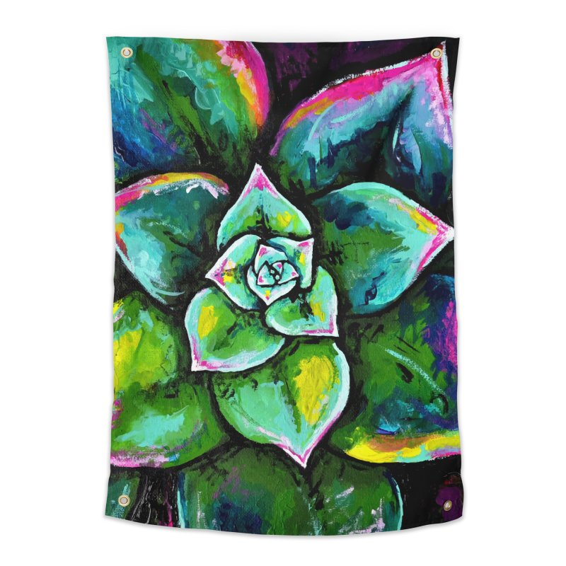 Houseleek #1 (wall art) Home Tapestry by szjdesign's Artist Shop