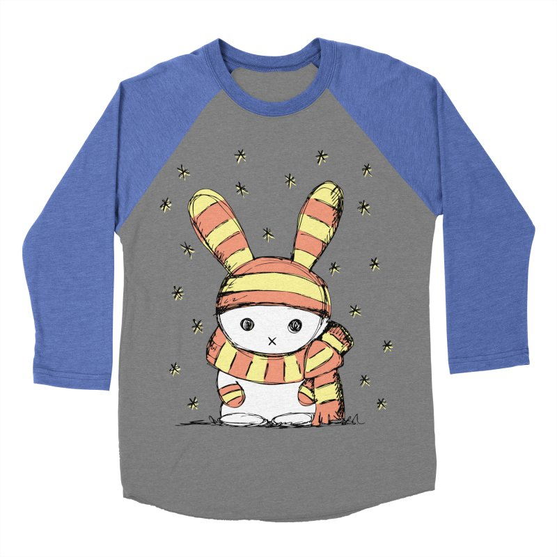 Winter bunny :) Women's Baseball Triblend T-Shirt by szjdesign's Artist Shop