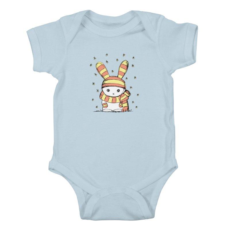 Winter bunny :) Kids Baby Bodysuit by szjdesign's Artist Shop