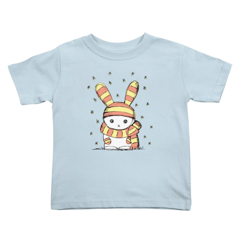 Winter bunny :) Kids Toddler T-Shirt by szjdesign's Artist Shop