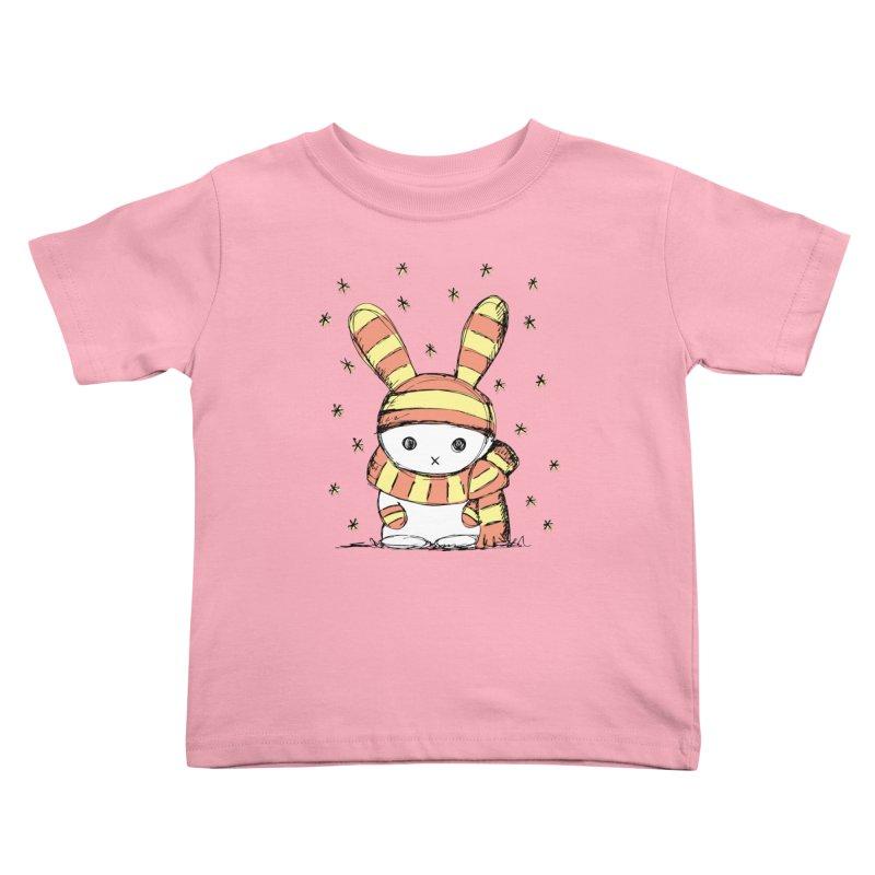Winter bunny :) Kids Toddler T-Shirt by szjdesign's Artist Shop