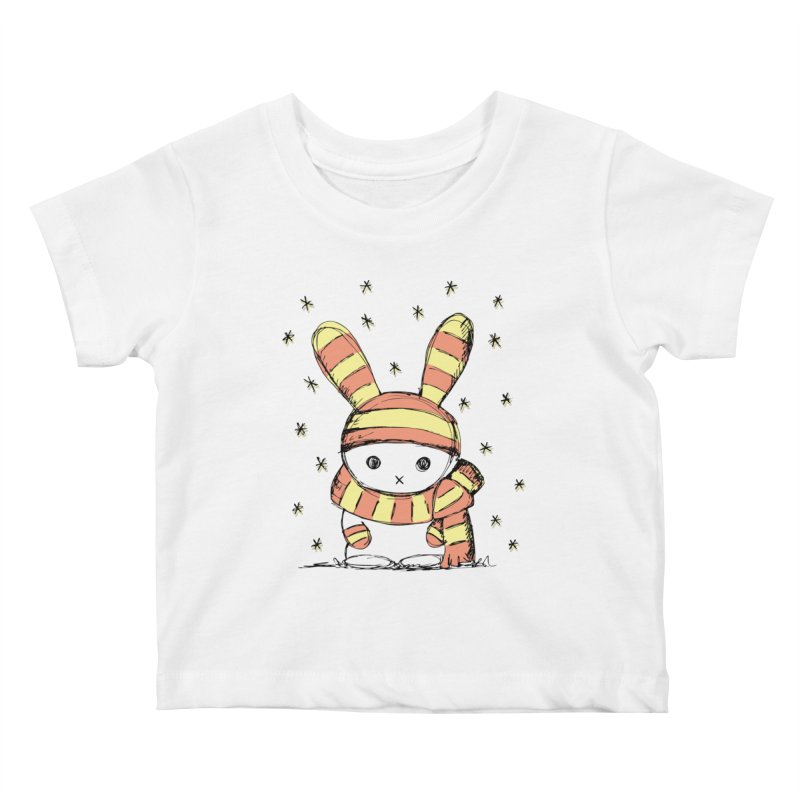 Winter bunny :) Kids Baby T-Shirt by szjdesign's Artist Shop