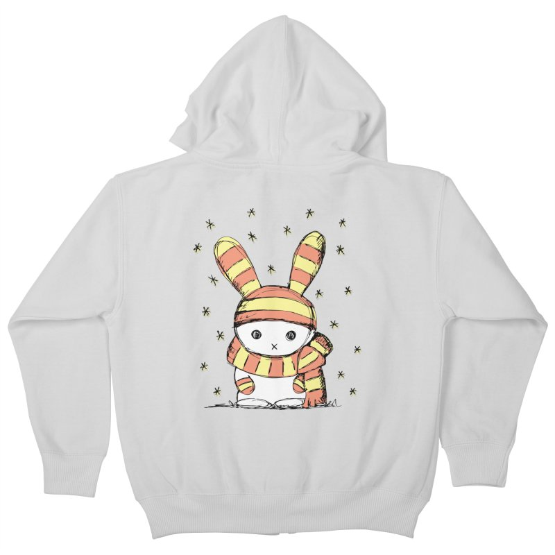Winter bunny :) Kids Zip-Up Hoody by szjdesign's Artist Shop
