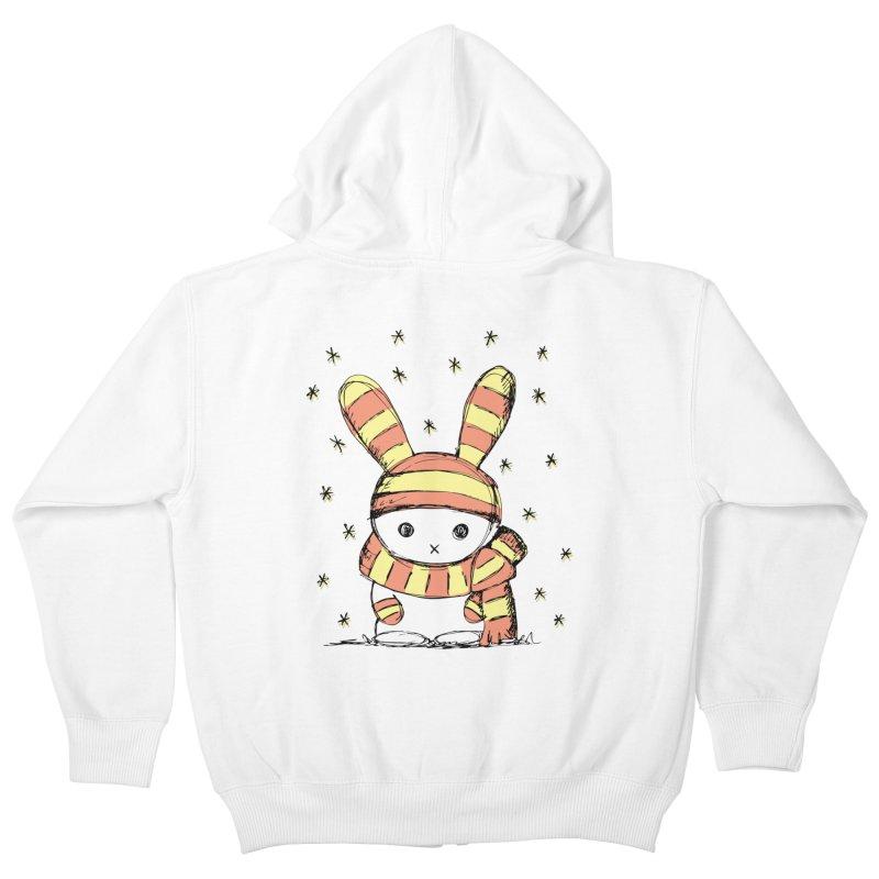 Winter bunny :) Kids Zip-Up Hoody by szjdesign's Artist Shop
