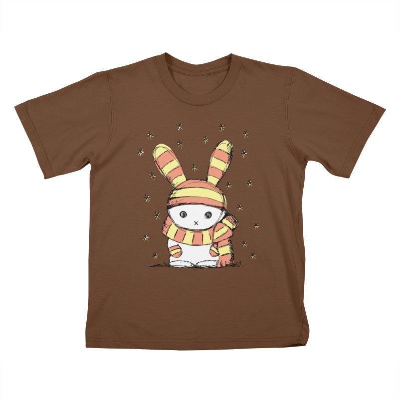 Winter bunny :) Kids T-Shirt by szjdesign's Artist Shop