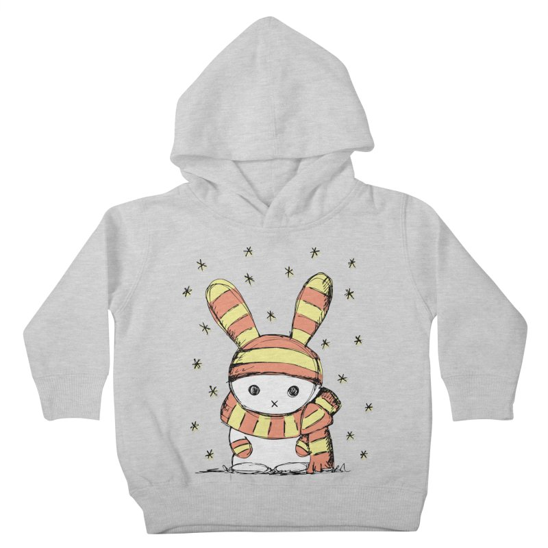 Winter bunny :) in Kids Toddler Pullover Hoody Heather Grey by szjdesign's Artist Shop