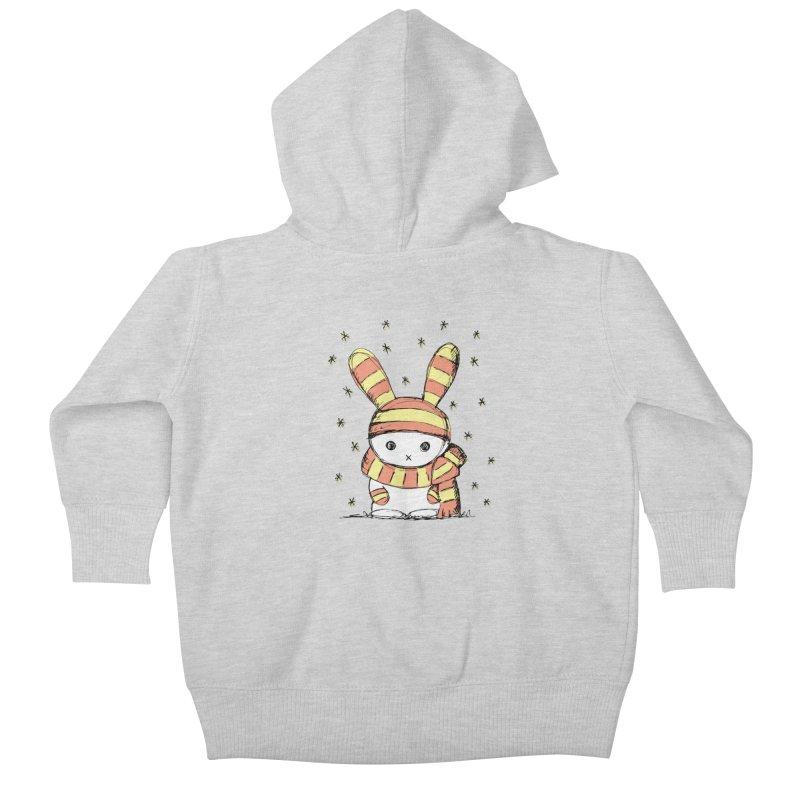 Winter bunny :) Kids Baby Zip-Up Hoody by szjdesign's Artist Shop