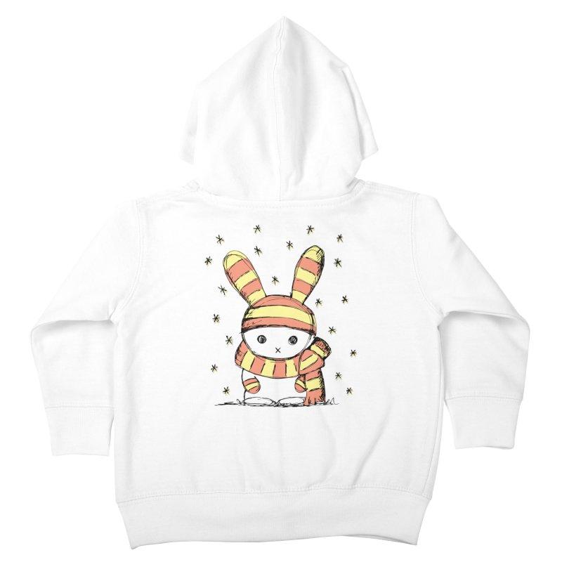 Winter bunny :) Kids Toddler Zip-Up Hoody by szjdesign's Artist Shop