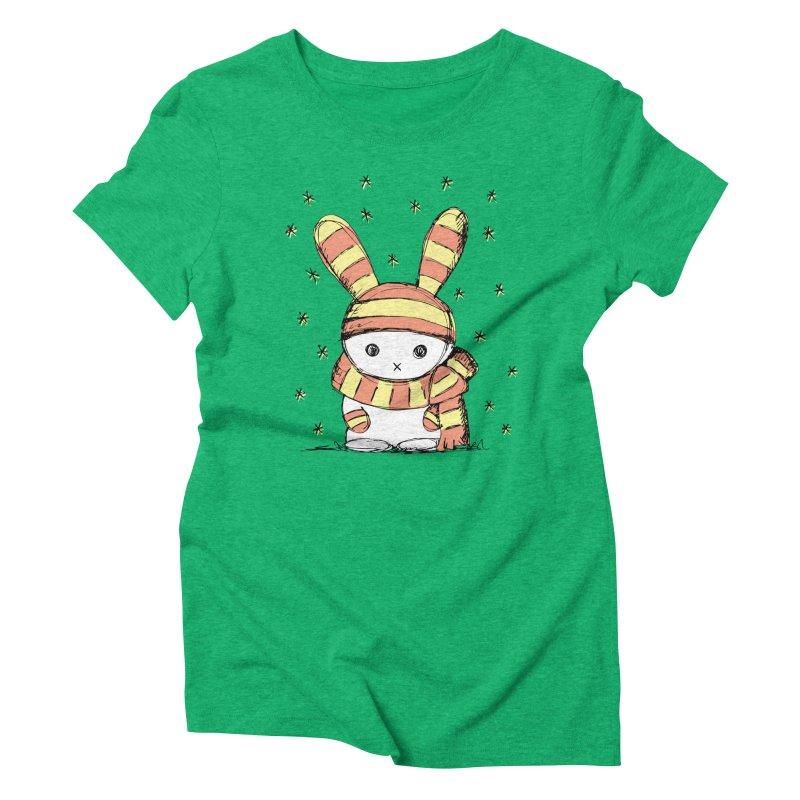 Winter bunny :) Women's Triblend T-shirt by szjdesign's Artist Shop