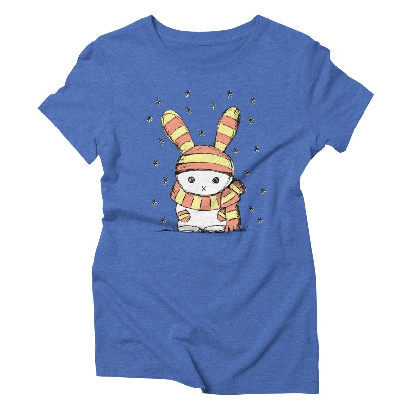 Winter bunny :) Women's Triblend T-Shirt by szjdesign's Artist Shop