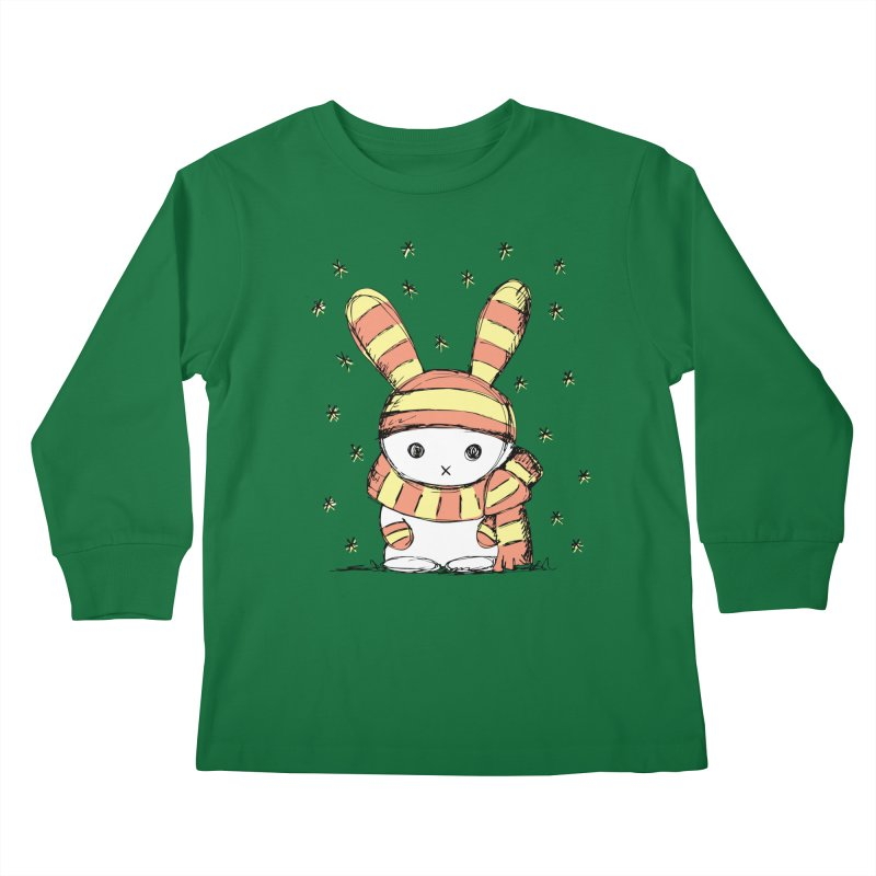 Winter bunny :) Kids Longsleeve T-Shirt by szjdesign's Artist Shop
