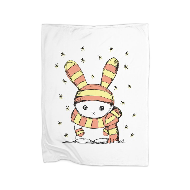 Winter bunny :) Home Blanket by szjdesign's Artist Shop