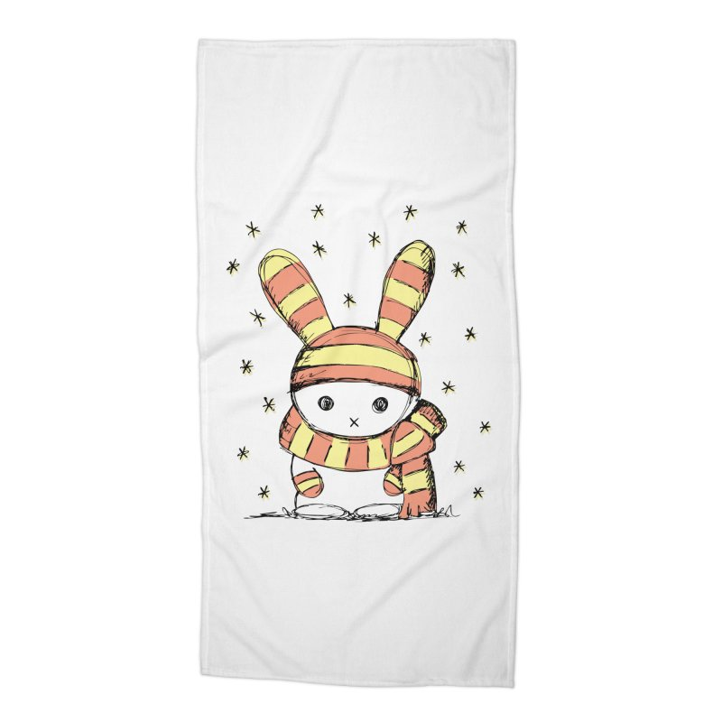 Winter bunny :) Accessories Beach Towel by szjdesign's Artist Shop