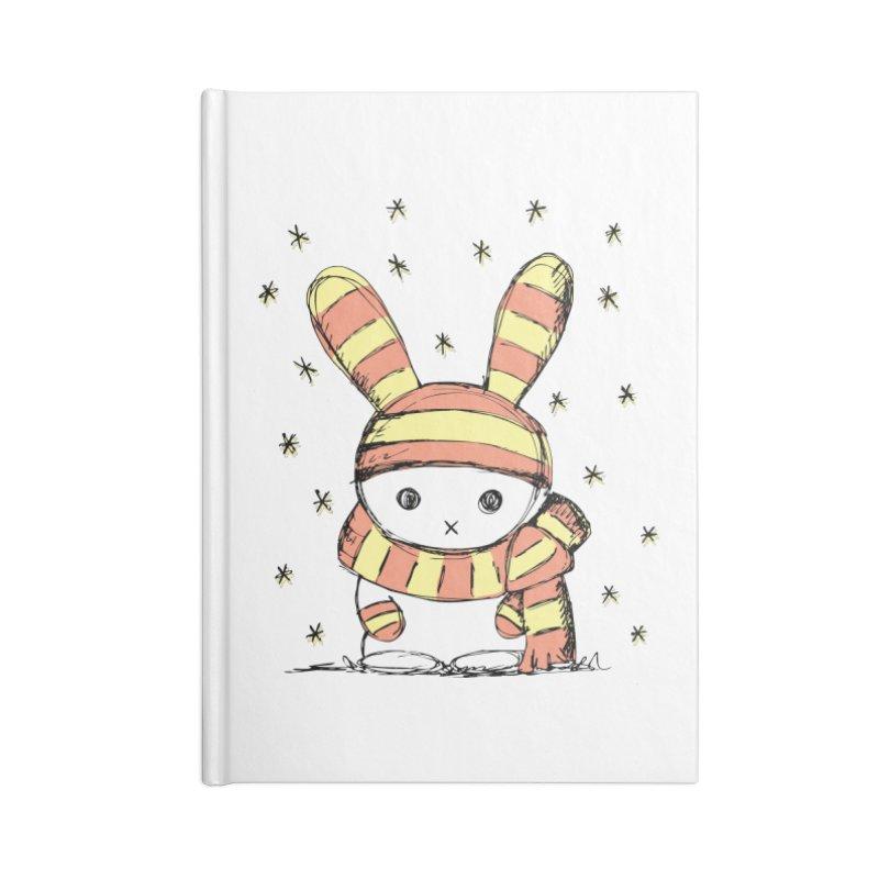 Winter bunny :) Accessories Notebook by szjdesign's Artist Shop