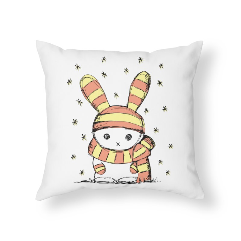 Winter bunny :) Home Throw Pillow by szjdesign's Artist Shop
