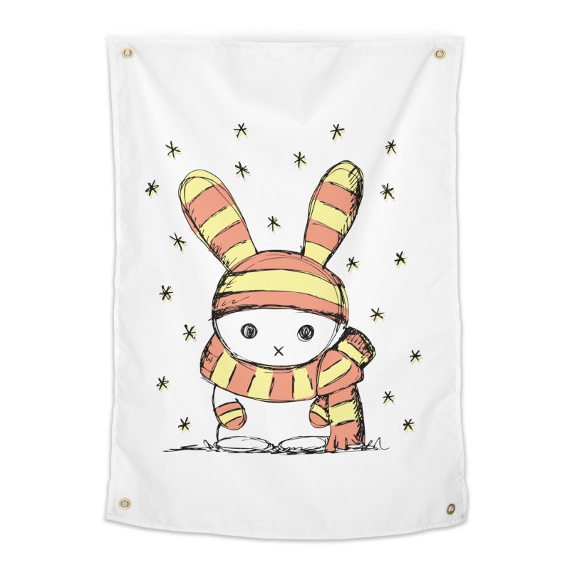 Winter bunny :) Home Tapestry by szjdesign's Artist Shop