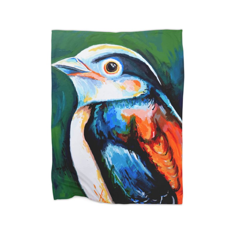 Birdy detail Home Blanket by szjdesign's Artist Shop