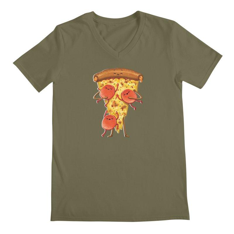 Mamas Pizza Men's V-Neck by T2U