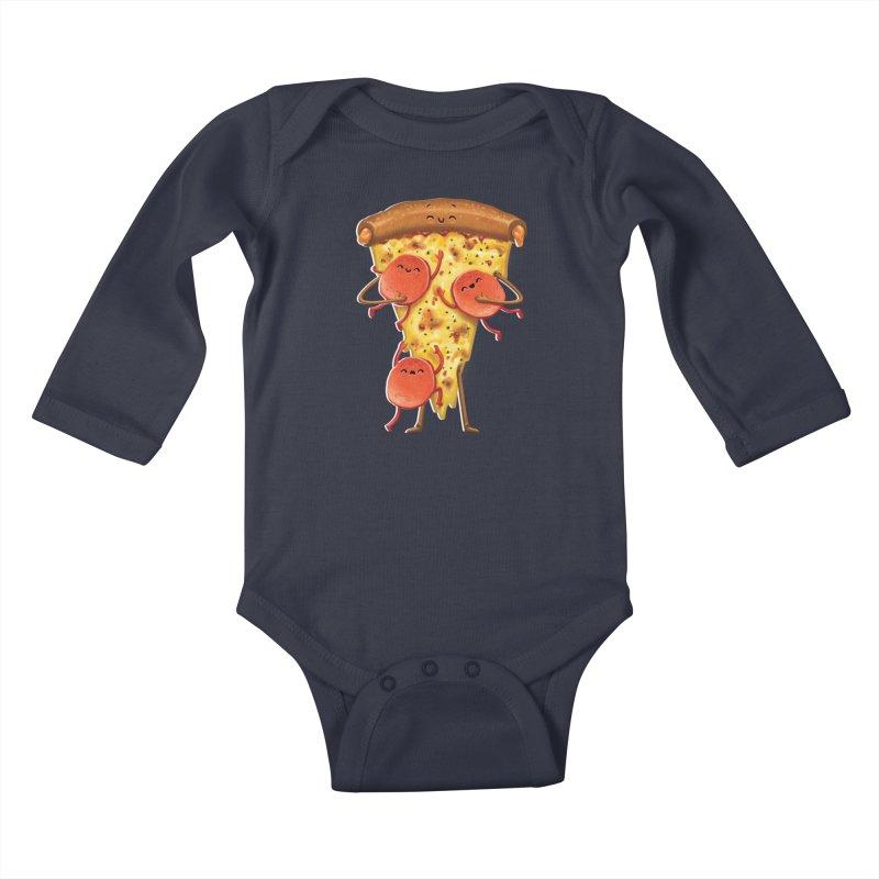Mamas Pizza Kids Baby Longsleeve Bodysuit by T2U