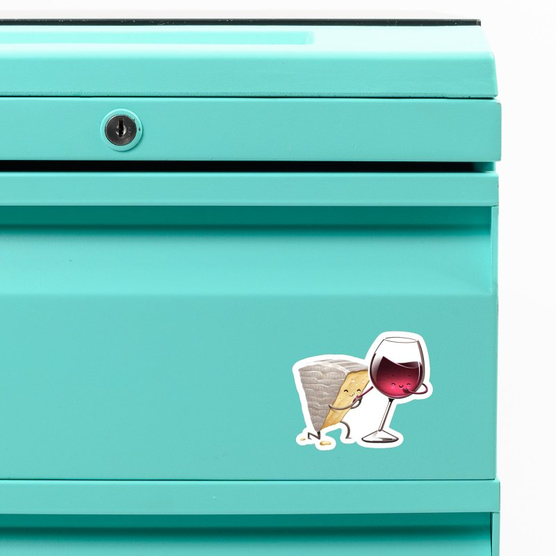 Wine and Cheese Accessories Magnet by T2U