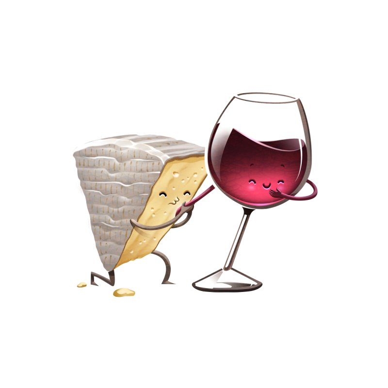 Wine and Cheese Accessories Notebook by T2U