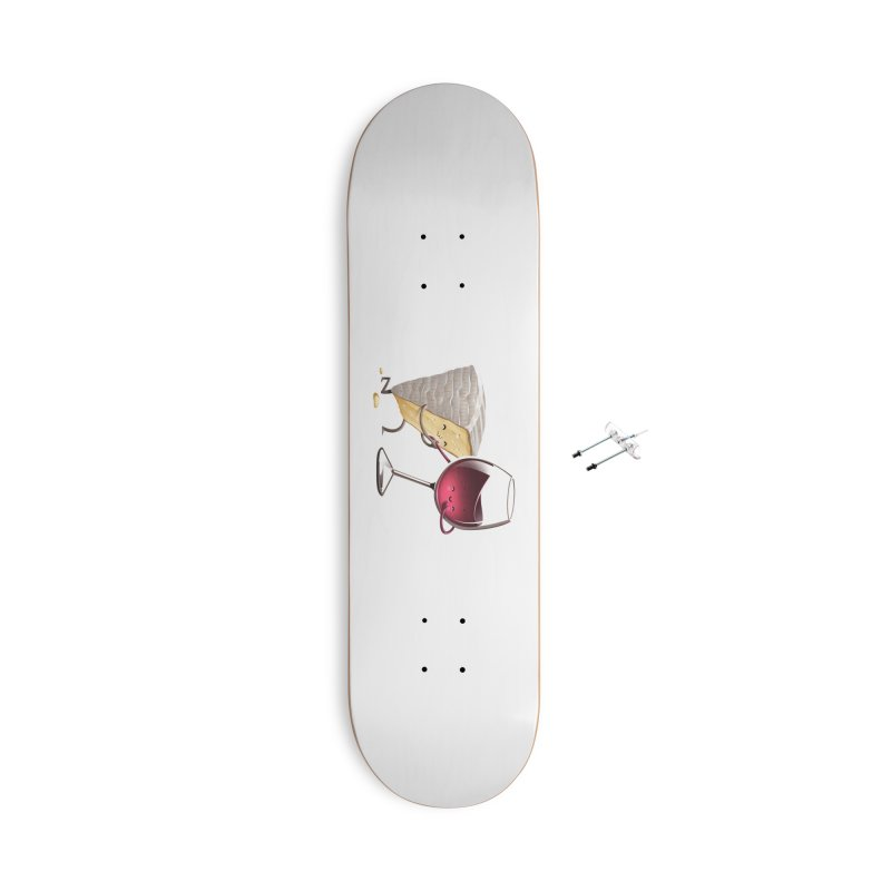 Wine and Cheese Accessories Skateboard by T2U