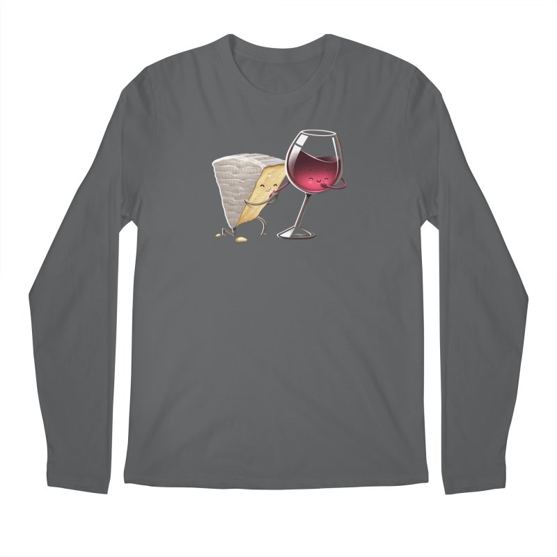 Wine and Cheese Men's Longsleeve T-Shirt by T2U