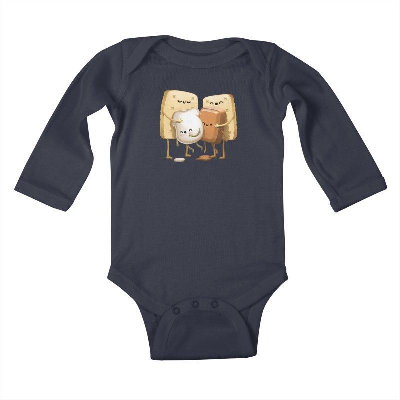 S'more Love Kids Baby Longsleeve Bodysuit by T2U