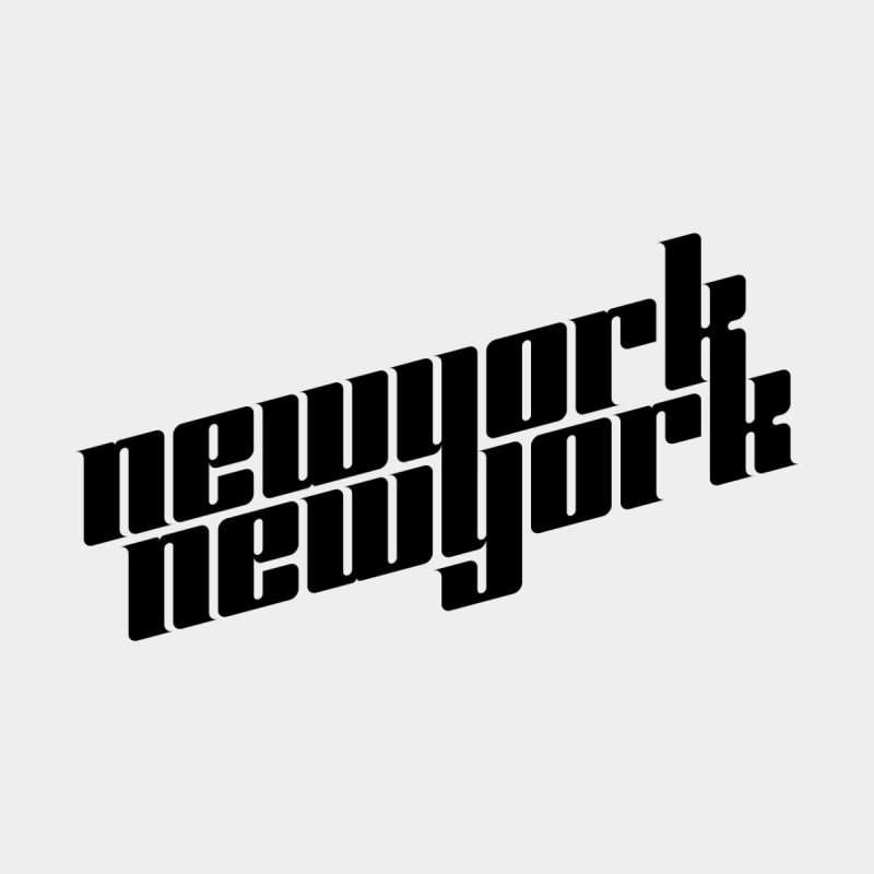 New York, New York (Black Type) Men's T-Shirt by Teeframed