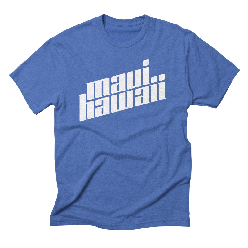 Maui, Hawaii (White Type) Men's T-Shirt by Teeframed