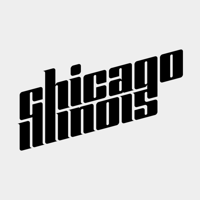 Illinois (Black Type) in  by Teeframed