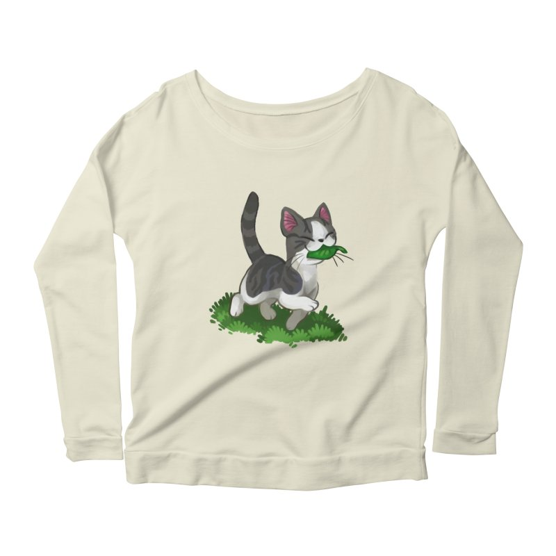 Sweet-Chi! Women's Longsleeve Scoopneck  by Kathleen Morrill, Tabbloza Art and Designs