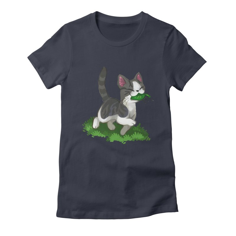 Sweet-Chi! Women's Fitted T-Shirt by Kathleen Morrill, Tabbloza Art and Designs