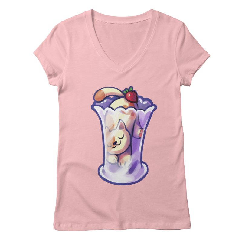 Parlez-vous Parfait? Women's V-Neck by Kathleen Morrill, Tabbloza Art and Designs