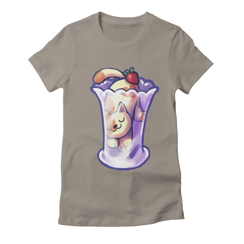 Parlez-vous Parfait? Women's Fitted T-Shirt by Kathleen Morrill, Tabbloza Art and Designs
