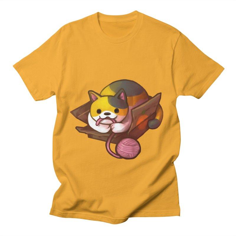 Neko's Simple Pleasures Men's T-Shirt by Kathleen Morrill, Tabbloza Art and Designs