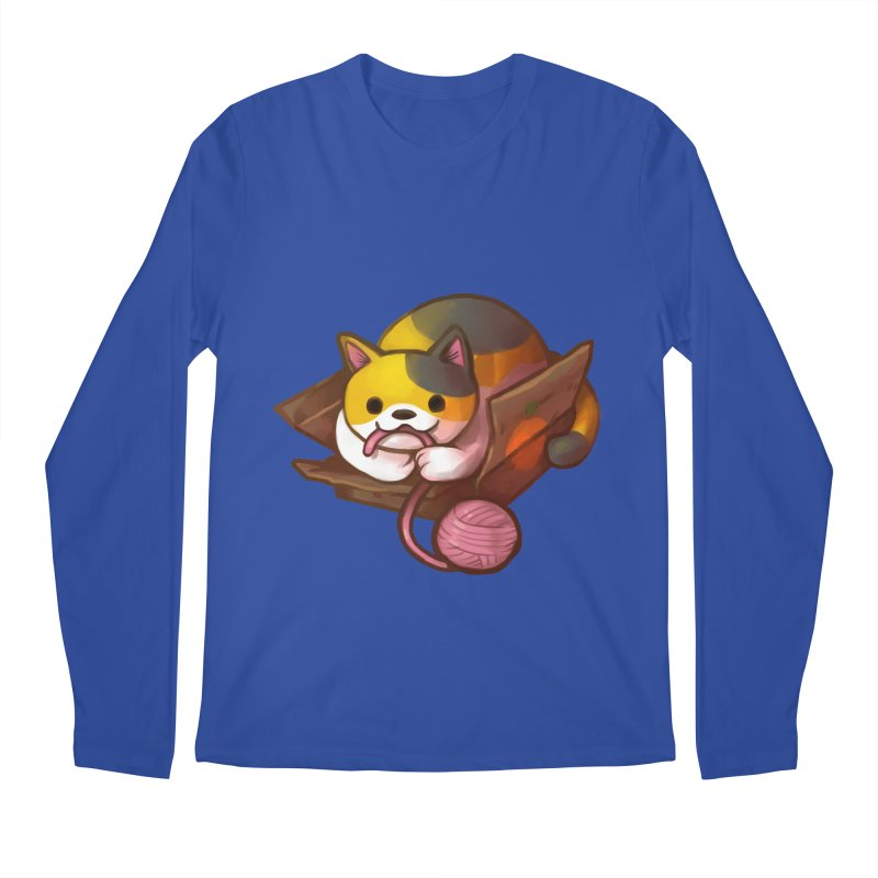 Neko's Simple Pleasures Men's Regular Longsleeve T-Shirt by Kathleen Morrill, Tabbloza Art and Designs