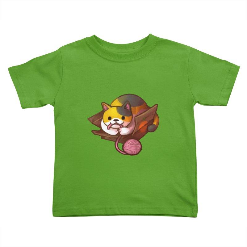 Neko's Simple Pleasures Kids Toddler T-Shirt by Kathleen Morrill, Tabbloza Art and Designs