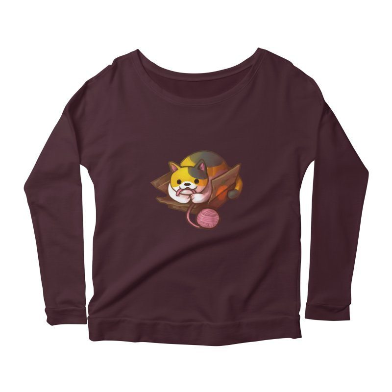 Neko's Simple Pleasures Women's Longsleeve T-Shirt by Kathleen Morrill, Tabbloza Art and Designs