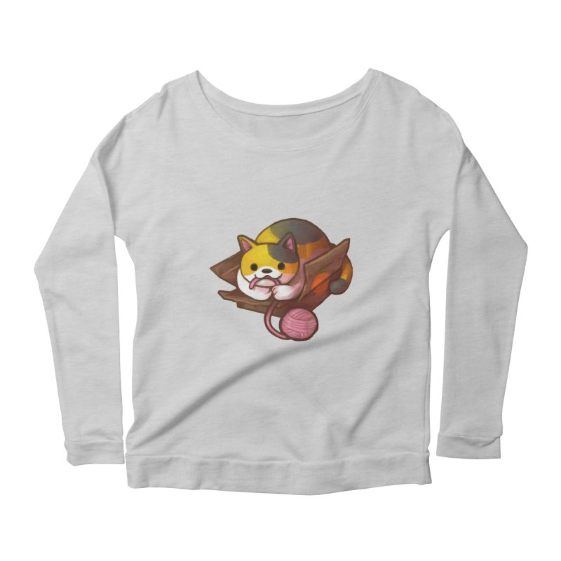 Neko's Simple Pleasures Women's Scoop Neck Longsleeve T-Shirt by Kathleen Morrill, Tabbloza Art and Designs