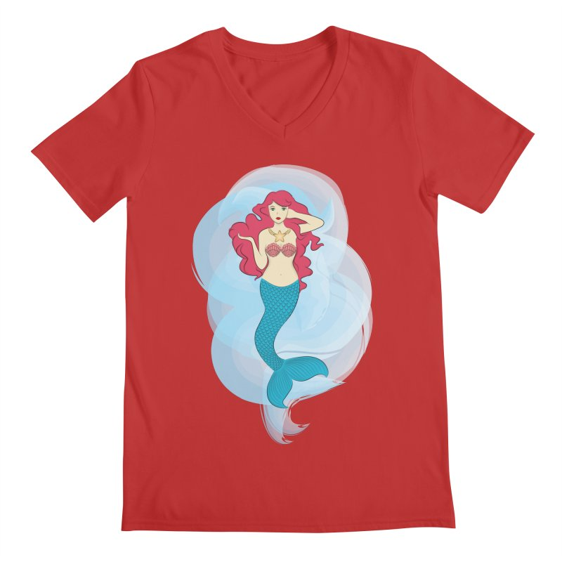 Mermaid Men's V-Neck by tabyway's Artist Shop